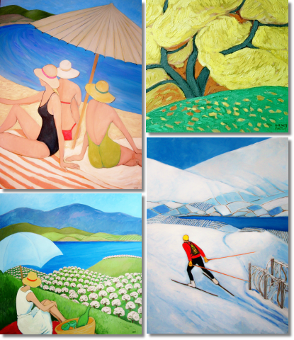 Wendy Porter, internationally acclaimed artist, lives in Kelowna, Okanagan Valley, British Columbia. Her Original Contemporary Oil and Acrylic Paintings are collected worldwide.