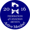 Federation of Canadian Artists Logo, Active Member
